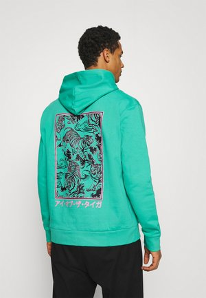 FRONT & BACK GRAPHIC HOODY UNISEX - Luvtröja - green