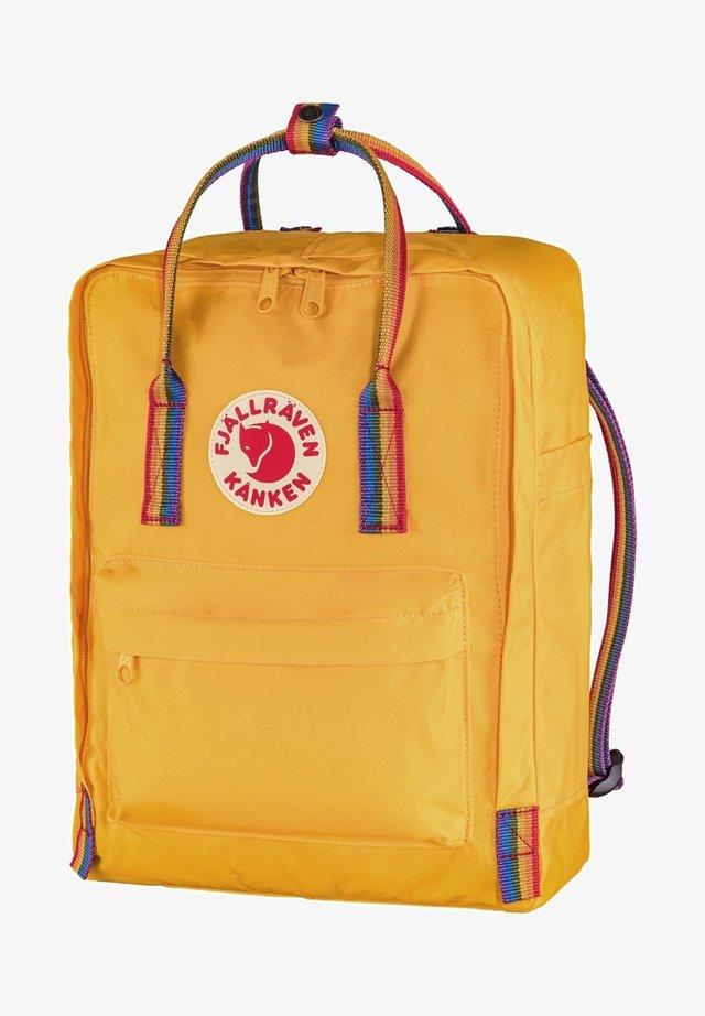 FJÄLLRÄVEN KANKEN RAINBOW - Backpack - warm yellow-rainbow pattern