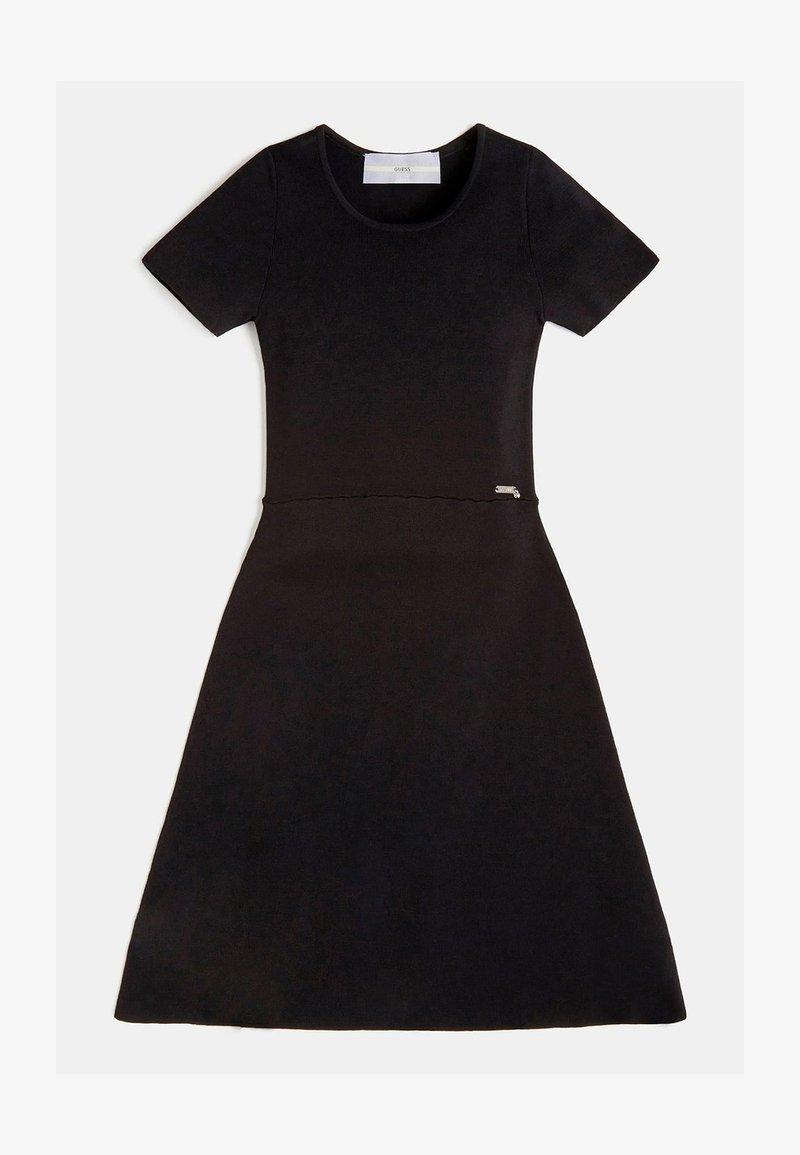 Guess - RIPPEN - Day dress - schwarz
