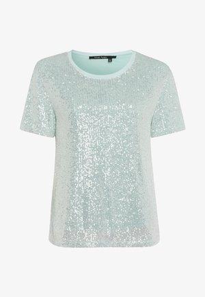 Print T-shirt - light jade