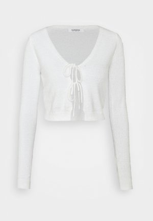 FLUFFY CARDIGAN - Neuletakki - cream