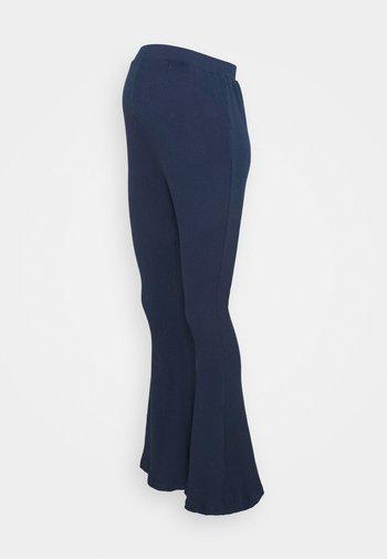 LADIES FLARES - Trousers - navy