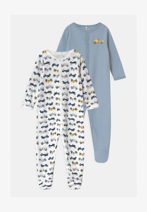 NBMNIGHTSUIT 2 PACK UNISEX - Nattdräkt - dusty blue