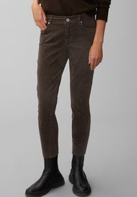 Marc O'Polo - ALBY SLIM - Trousers - dark chocolate - 0