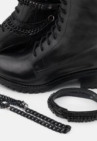 Dune London - PRIMROSE - Kovbojské/motorkářské boty - black - 5