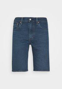 SLIM SHORT - Denim shorts - dark-blue denim