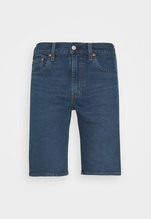 SLIM SHORT - Farkkushortsit - dark-blue denim
