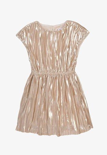 METALIC ELASTICED WAISTBAND  - Cocktail dress / Party dress - gold
