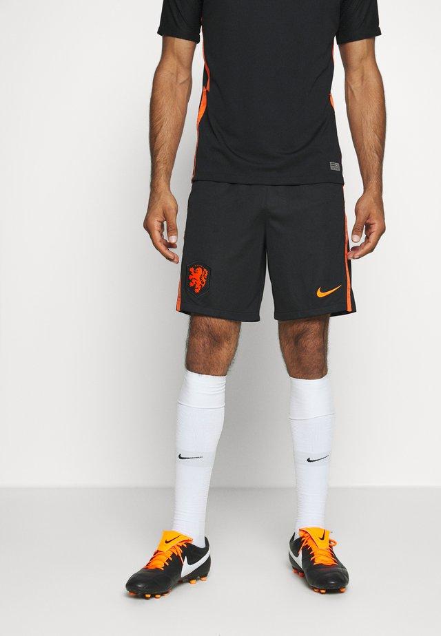 NIEDERLANDE KNVB SHORT AWAY - Korte broeken - black/safety orange