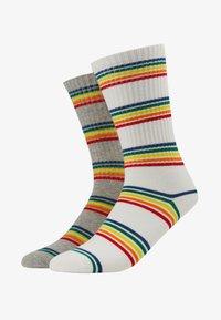 Urban Classics - RAINBOW   2 PACK - Socks - grey/white - 1