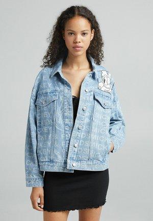MIT LASERPRINT  - Denim jacket - blue denim