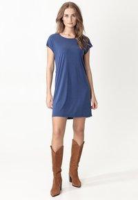 Indiska - ELINORA - Jersey dress - blue - 2
