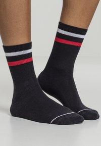 Urban Classics - 2 PACK - Socks - black white red - 1