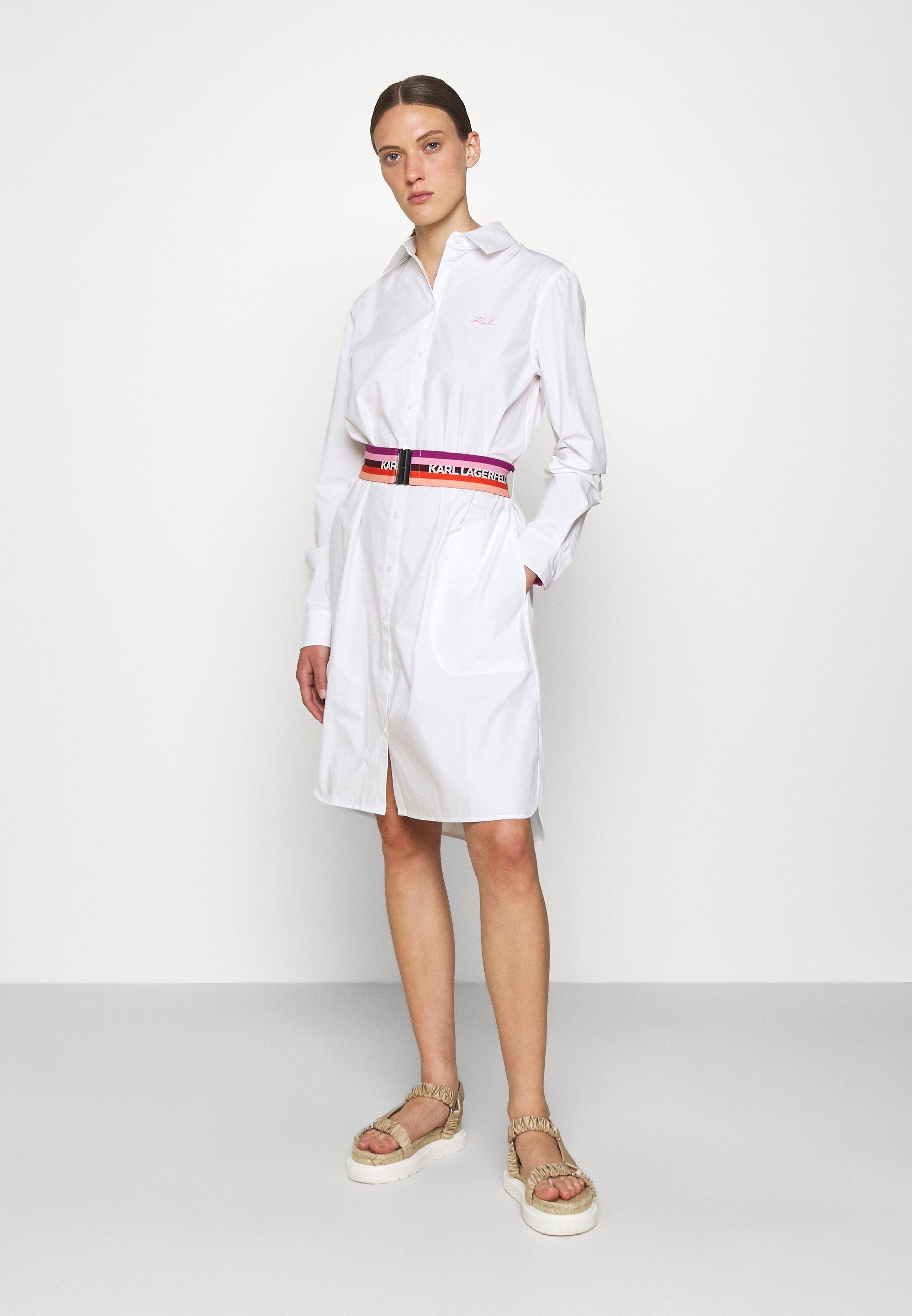 Mujer STRIPE SHIRT DRESS - Vestido camisero