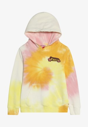 TIE DYE HOODY WITH CHEST BADGE - Mikina skapucí - multi-coloured