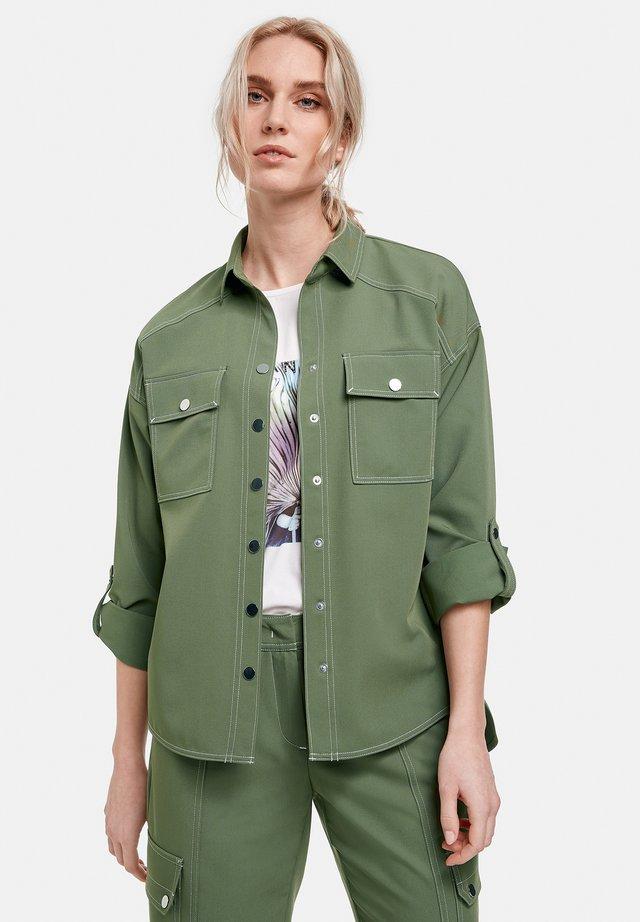 Overhemdblouse - botanical green