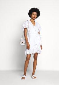 MICHAEL Michael Kors - EYELET WRAP DRESS - Sukienka letnia - white - 1