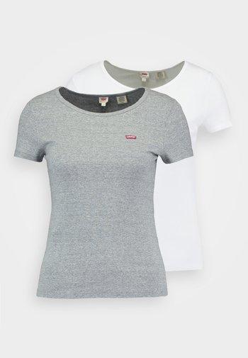 TEE 2 PACK - T-shirts - white/smokestack heather