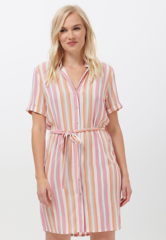 JOJO OMBRE STRIP - Shirt dress - pink