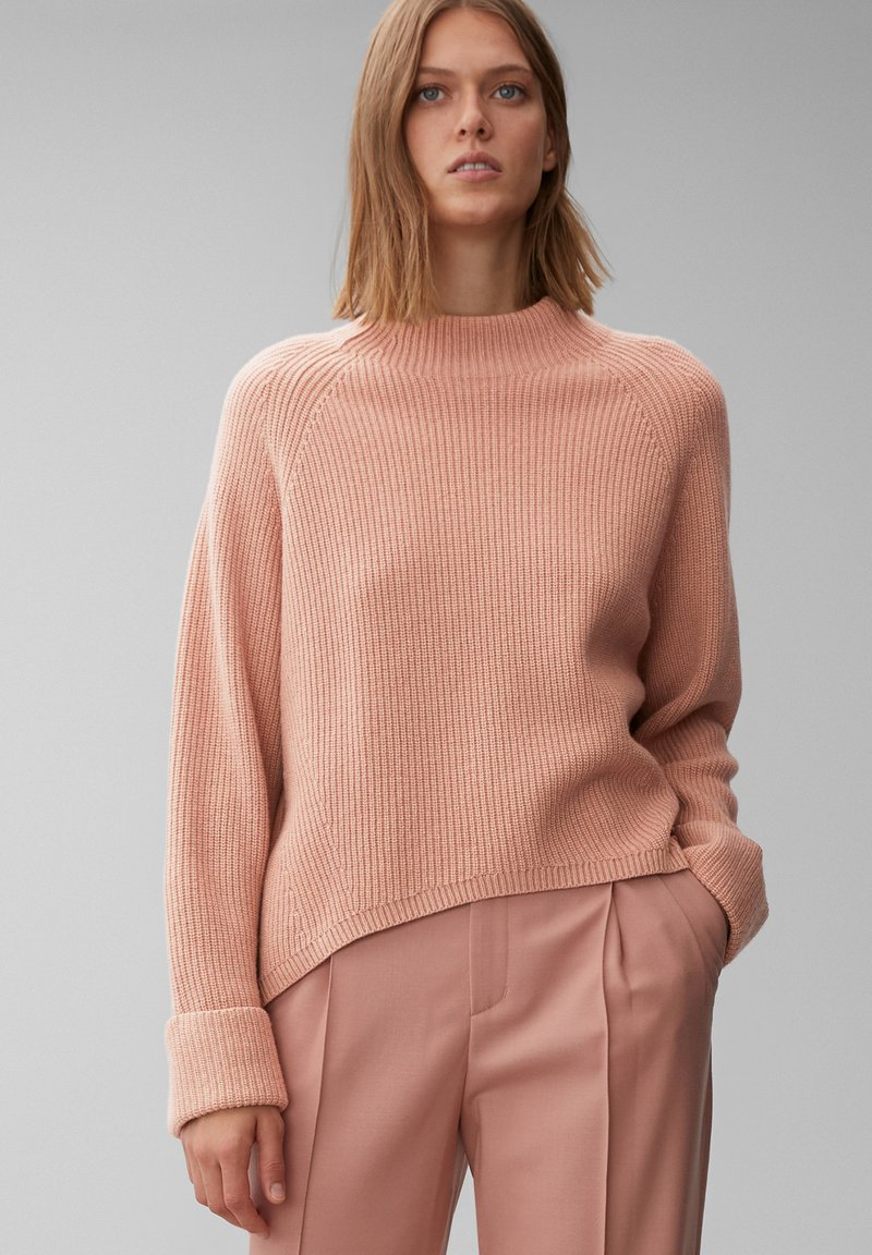 Marc O'Polo PURE - BOXY LONG SLEEVE RAGLAN CROPPED LENGTH - Jumper - winter rose
