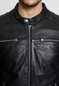 Goosecraft - BIRMIGHAM BIKER - Kožená bunda - black - 4