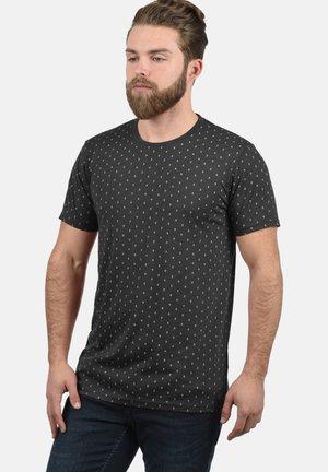 RUNDHALSSHIRT AARON - Print T-shirt - dark grey melange