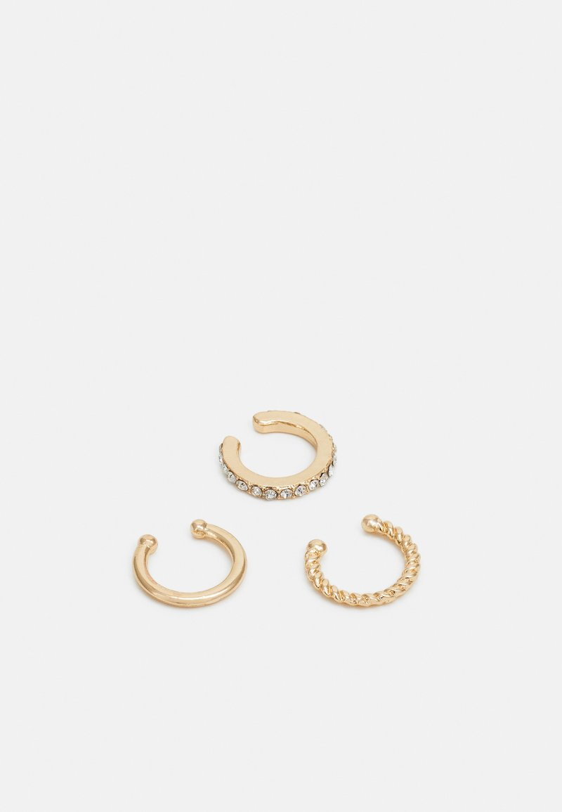 sweet deluxe - EARCUFFS 3 PACK - Náušnice - gold-coloured