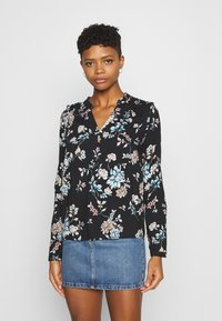 Vero Moda - VMNADS ROME - Blouse - black/billie - 0