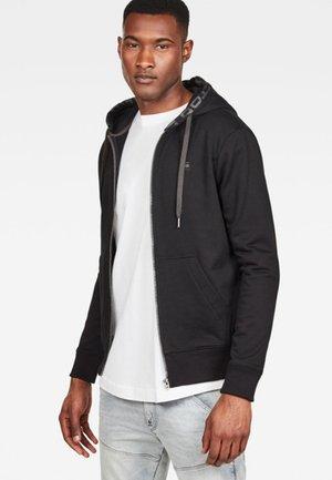 GRAPHIC LOGO CORE - Zip-up hoodie - black