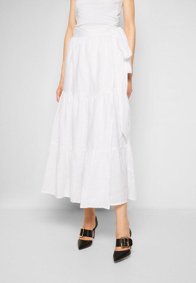 CAVARETTA MIDI SKIRT - A-line skirt - white