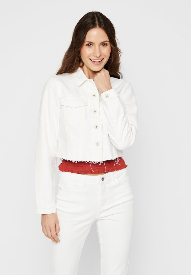 Pieces - Denim jacket - bright white