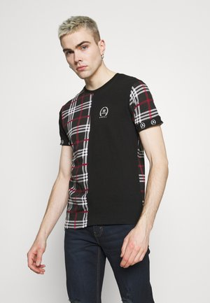 LAUREL - Print T-shirt - jet black/white/red/black