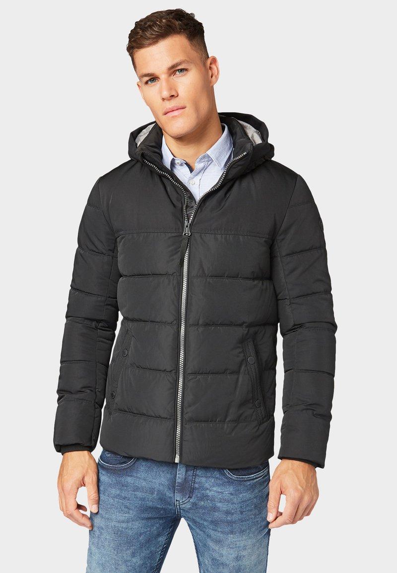 TOM TAILOR - MIT KAPUZE - Winter jacket - black
