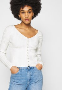 NA-KD - DETAILED CARDIGAN - Cardigan - off white - 3