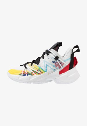 WHY NOT ZER0.3 SE UNISEX - Basketball shoes - white/university red/black/hyper blue/lightening/blue glow