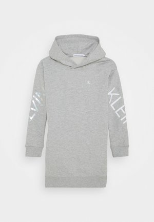 HERO LOGO HOOD DRESS - Day dress - grey