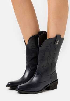 LAEL - Cowboy/Biker boots - marine