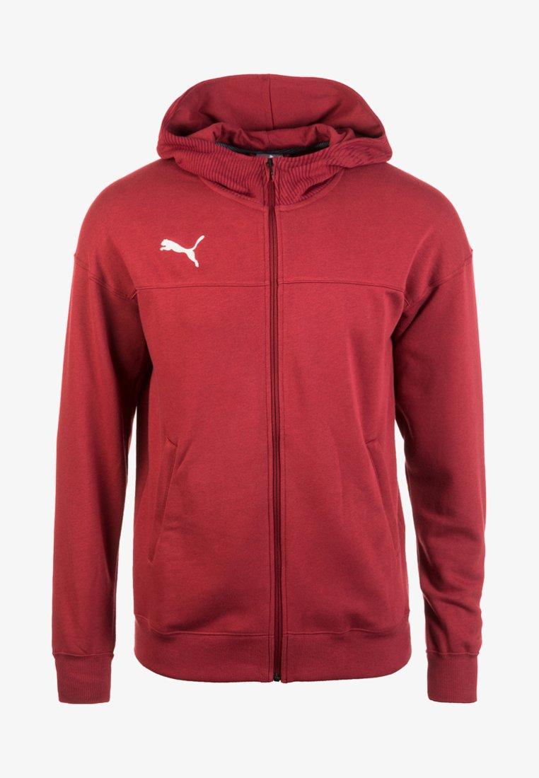 Puma - CUP CASUALS KAPUZENJACKE - Sports jacket - pomegranate / puma white