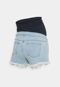 Missguided Maternity - MATERNITY FRAYED HEM - Denim shorts - blue - 1