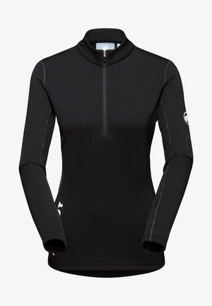 AENERGY ML HALF ZIP PULL  - Maglietta a manica lunga - black