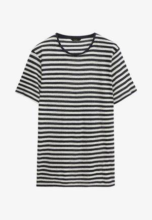 Print T-shirt - blue black denim