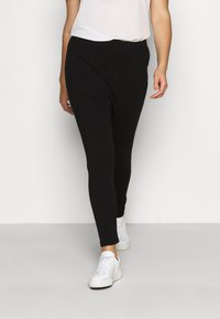 Even&Odd Curvy - 2 pack HIGH WAIST legging - Leggings - Trousers - black - 2