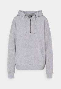 Even&Odd - OVERSIZED HALF ZIP SWEAT  - Hoodie - mottled light grey - 5