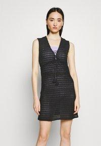 Vila - VISEILA  DRESS FESTIVAL - Jumper dress - black - 0