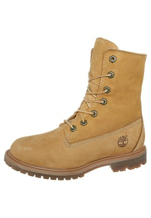 AUTHENTICS - Lace-up ankle boots - wheat