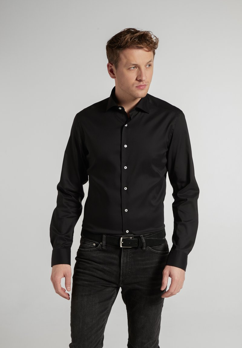 Eterna - SLIM FIT - Formal shirt - schwarz