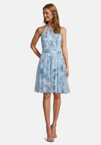 Cocktail dress / Party dress - cream/light blue