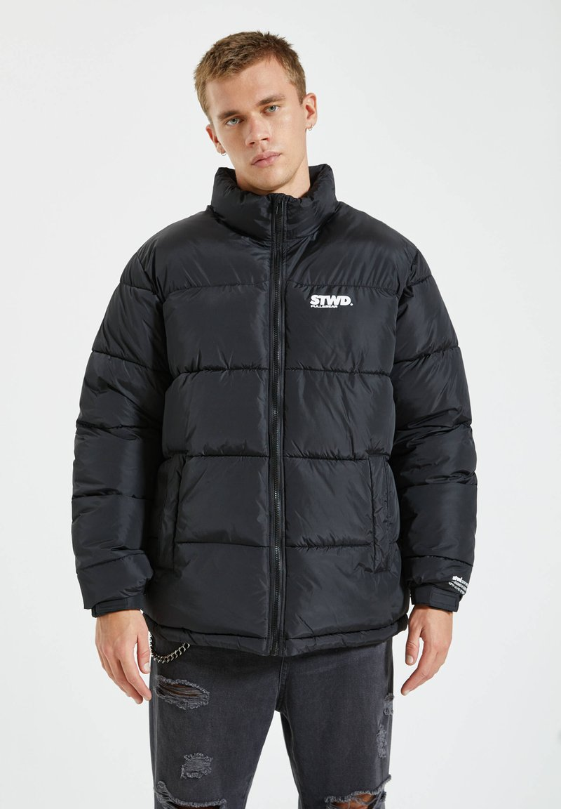 PULL&BEAR - Winter jacket - black denim