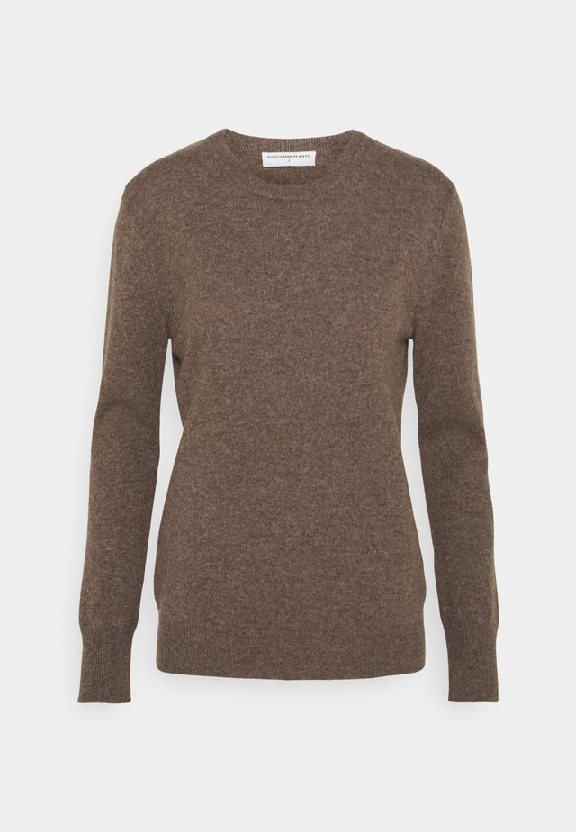 CLASSIC CREW NECK  - Strikkegenser - heather brown