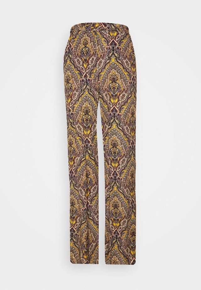 ONLVIDE WIDE PANT - Pantalon classique - golden spice/spicy boho